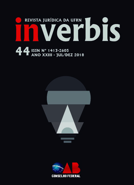 Visualizar v. 23 n. 44 (2018): N°44 Revista Jurídica In Verbis